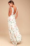 Romantic Possibilities White Floral Print Maxi Dress 2
