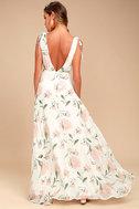 Romantic Possibilities White Floral Print Maxi Dress 3