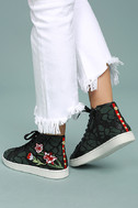 Steve Madden Allie Green Multi Embroidered High-Top Sneakers 4