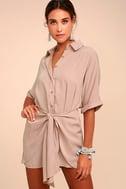Go With the Flow Mauve Shirt Dress 2