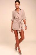 Go With the Flow Mauve Shirt Dress 1