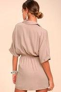 Go With the Flow Mauve Shirt Dress 3