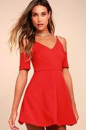 Ever So Enticing Red Skater Dress 2