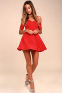 Ever So Enticing Red Skater Dress 1