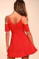 Ever So Enticing Red Skater Dress 3
