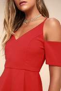 Ever So Enticing Red Skater Dress 4