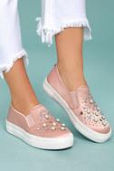 Steve Madden Glade Blush Satin Slip-On Sneakers 4