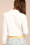 Style Scope White Denim Jacket 3