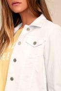 Style Scope White Denim Jacket 4