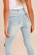 Rollas Eastcoast Staple Light Blue Distressed Skinny Jeans 3