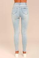 Rollas Eastcoast Staple Light Blue Distressed Skinny Jeans 4
