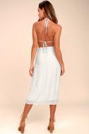 Ocean Traveler Blue Striped Midi Dress 3