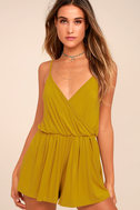 Project Social T Cold Brew Chartreuse Romper 2
