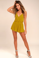 Project Social T Cold Brew Chartreuse Romper 1