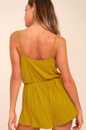 Project Social T Cold Brew Chartreuse Romper 3