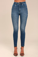 Rollas Eastcoast Ankle Dark Blue High-Waisted Skinny Jeans 4