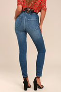 Rollas Eastcoast Ankle Dark Blue High-Waisted Skinny Jeans 2