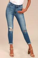 Rollas Westcoast Staple Medium Wash Distressed Skinny Jeans 2