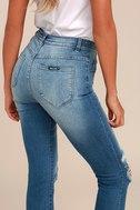Rollas Westcoast Staple Medium Wash Distressed Skinny Jeans 4