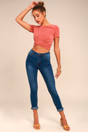 Bandmate Medium Wash Skinny Jeans 1