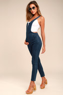 Free People Jax Blue Denim Jumpsuit 2