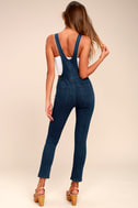 Free People Jax Blue Denim Jumpsuit 3