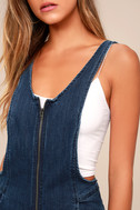 Free People Jax Blue Denim Jumpsuit 4