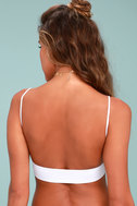 Free People Low Back White Bralette 3