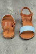 Hearts and Hashtags Blue Flat Sandals 3