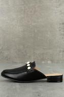 Zinnia Black Loafer Slides 1
