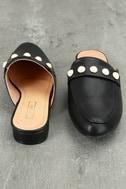 Zinnia Black Loafer Slides 3