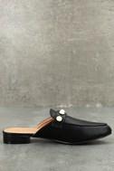 Zinnia Black Loafer Slides 2