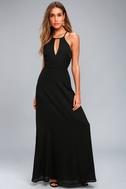 Beauty and Grace Black Maxi Dress 1