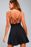 Shore Thing Washed Black Skater Dress 3