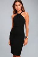 Be My Baby Black Bodycon Midi Dress 2