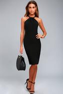 Be My Baby Black Bodycon Midi Dress 1