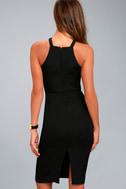 Be My Baby Black Bodycon Midi Dress 3
