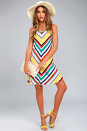 Olive & Oak Corey White Striped Dress 1