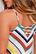 Olive & Oak Corey White Striped Dress 4