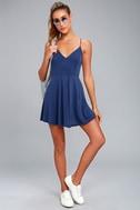 Shore Thing Navy Blue Skater Dress 1