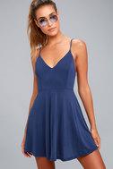 Shore Thing Navy Blue Skater Dress 2