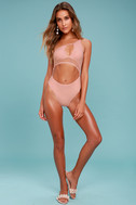 Somedays Lovin' Hibiscus Blush Pink One Piece Swimsuit 2