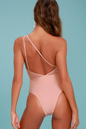 Somedays Lovin' Hibiscus Blush Pink One Piece Swimsuit 4