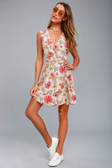 Best In Bloom Blush Floral Print Wrap Dress 2