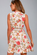 Best In Bloom Blush Floral Print Wrap Dress 3