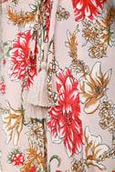 Best In Bloom Blush Floral Print Wrap Dress 4