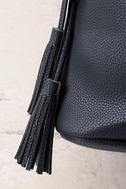 Posh Appeal Black Bucket Bag 2