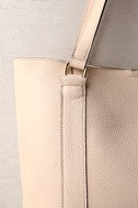 Style Script Beige Tote Bag 1