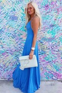 Elevate Blue Embroidered Maxi Dress 4