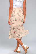 Bouquet Days Blush Floral Print Midi Skirt 3